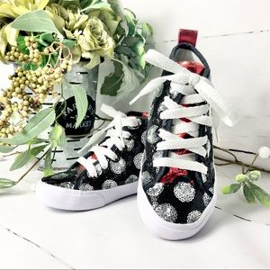Minnie Mouse Black and Silver Sequin High Tops